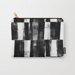 Black and White Abstract Pattern Carry-All Pouch