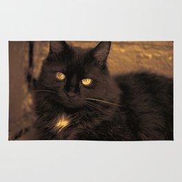 Golden Eyed Kitty Rug
