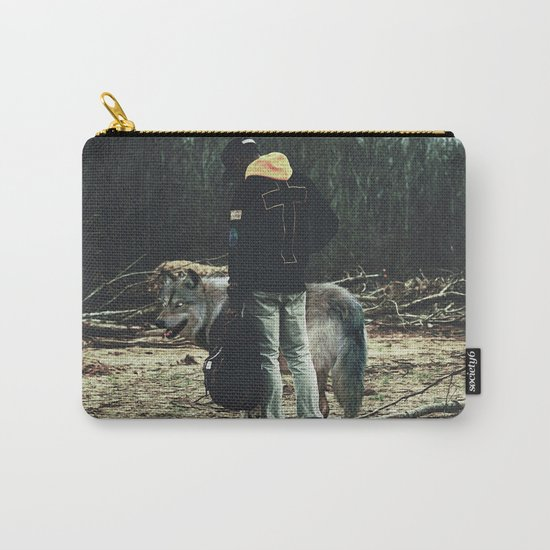 Kid with wolf Carry-All Pouch