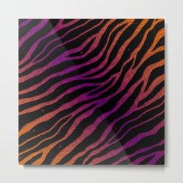 Ripped SpaceTime Stripes - Orange/Purple Metal Print