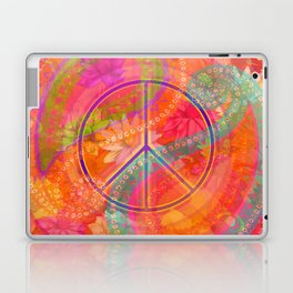 Hippie Chic Paisley Flowers Peace Laptop & iPad Skin