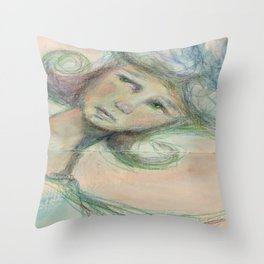 On her mind Throw Pillow