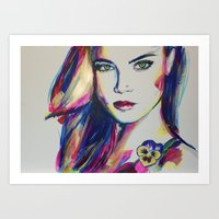 Cara & Pansy Art Print
