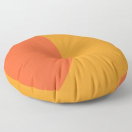 Orange Rising Floor Pillow