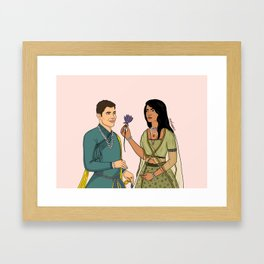Nick and Priyanka Framed Art Print