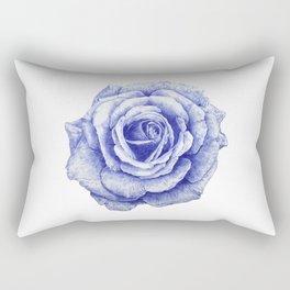 Ballpoint Blue Rose Rectangular Pillow