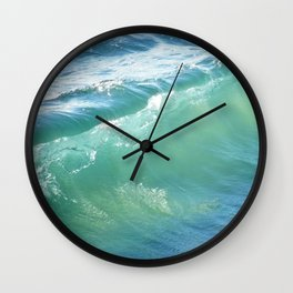 Teal Surf Wall Clock