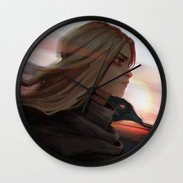 dark crow Wall Clock