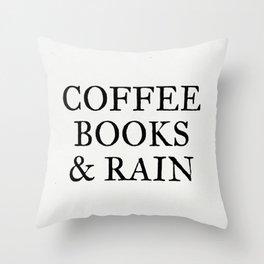Coffee Books & Rain - Paper Throw Pillow