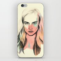 cara iPhone & iPod Skins featuring Cara by Beth Zimmerman Illustration