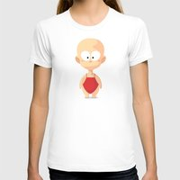 apple T-shirts featuring Apple by Lemon Liu