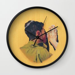 Untitled (soldier, gold) Wall Clock