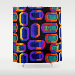 90's Tic Tac Pattern Shower Curtain