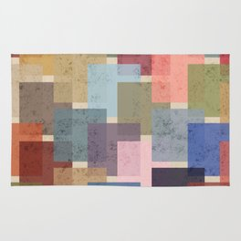 Vintage Colorful Squares Rug