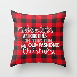 Fun Old-Fashioned Family Christmas Throw Pillow
