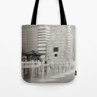 seoul Tote Bags featuring Abstract Seoul by Zayda Barros