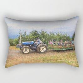 Hayride At The Apple Orchard Rectangular Pillow
