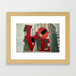Love Sign Philadelphia Framed Art Print