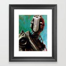 Twin #1 Robot Framed Art Print