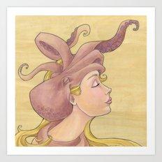 The Octopus Mermaid 11 Art Print