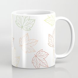Maple Leaves in fall colors. Coffee Mug