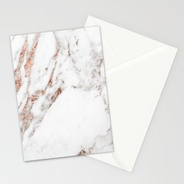 Rose gold foil marble Stationery Cards