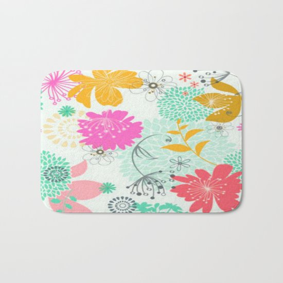 Floral vector pattern best idea Bath Mat