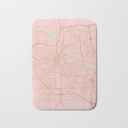 Ann Arbor map, Michigan Bath Mat