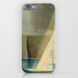 Sailing Yachts in Ocean Blue by Lyonel Feininger iPhone Case