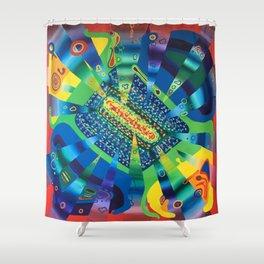 390 Tera Hertz Shower Curtain