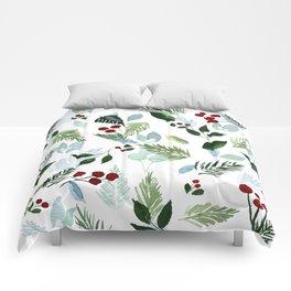 Blue Christmas Comforters