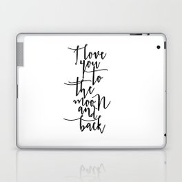 I Love You To The Moon And Back Nursery Decor Newborn Baby Room Decor Printable Art Nursery Wall Dec Laptop & iPad Skin