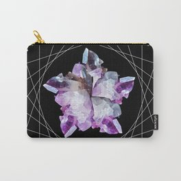 Crystal Totem Line Work Occult Tattoo Style Illustration Carry-All Pouch