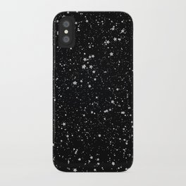 Glitter Stars2 - Silver Black iPhone Case