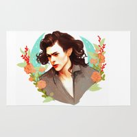 harry styles Area & Throw Rugs featuring Harry Styles by chazstity