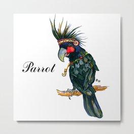 Chief Black parrot Metal Print