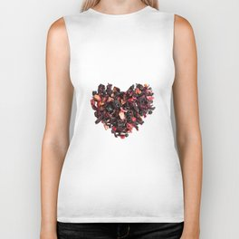 petals tea formed in heart shape Biker Tank