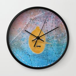 Portrait of Lemongrab in an Abstract Dimension Wall Clock