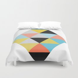 Pop Art Pattern with Triangles Duvet Cover