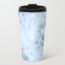 Light Blue Peonies Dream #1 #floral #decor #art #society6 Travel Mug