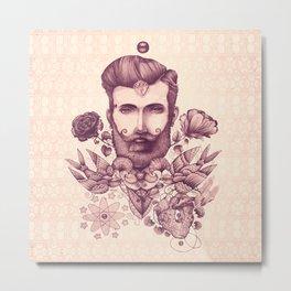 beard & tattoo Metal Print