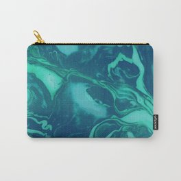 Teal Marble Carry-All Pouch