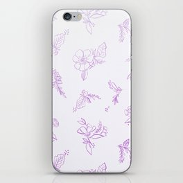beautiful,violet,floral,shabby chic,pattern,french chic, country chic, vintage, iPhone Skin