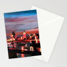 London Eye Night Stationery Cards