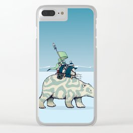Nature warriors: From Pole to Pole Clear iPhone Case