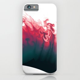 Escaping color abstract digital illustration  iPhone Case