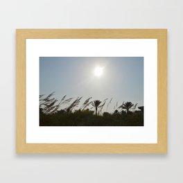 Swaying Plants Framed Art Print