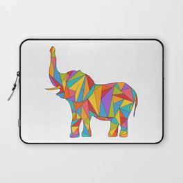Big, bright, and colorful elephant - polychromatic animal Laptop Sleeve