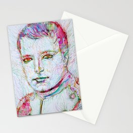 NAPOLEON watercolor and ink portrait Stationery Cards