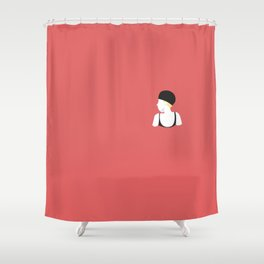 Swim in the red wine Shower Curtain